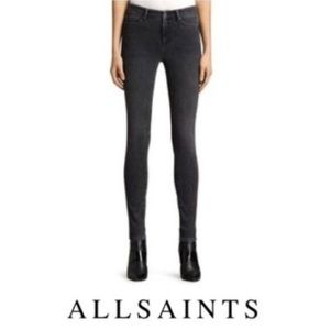 [ALL SAINTS] 28 black super skinny jeans